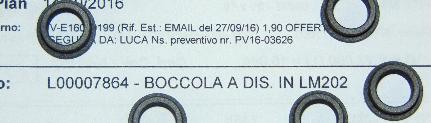 Boccole in PTFE + carbografite
